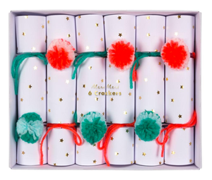 Pom Pom & Star Christmas Crackers