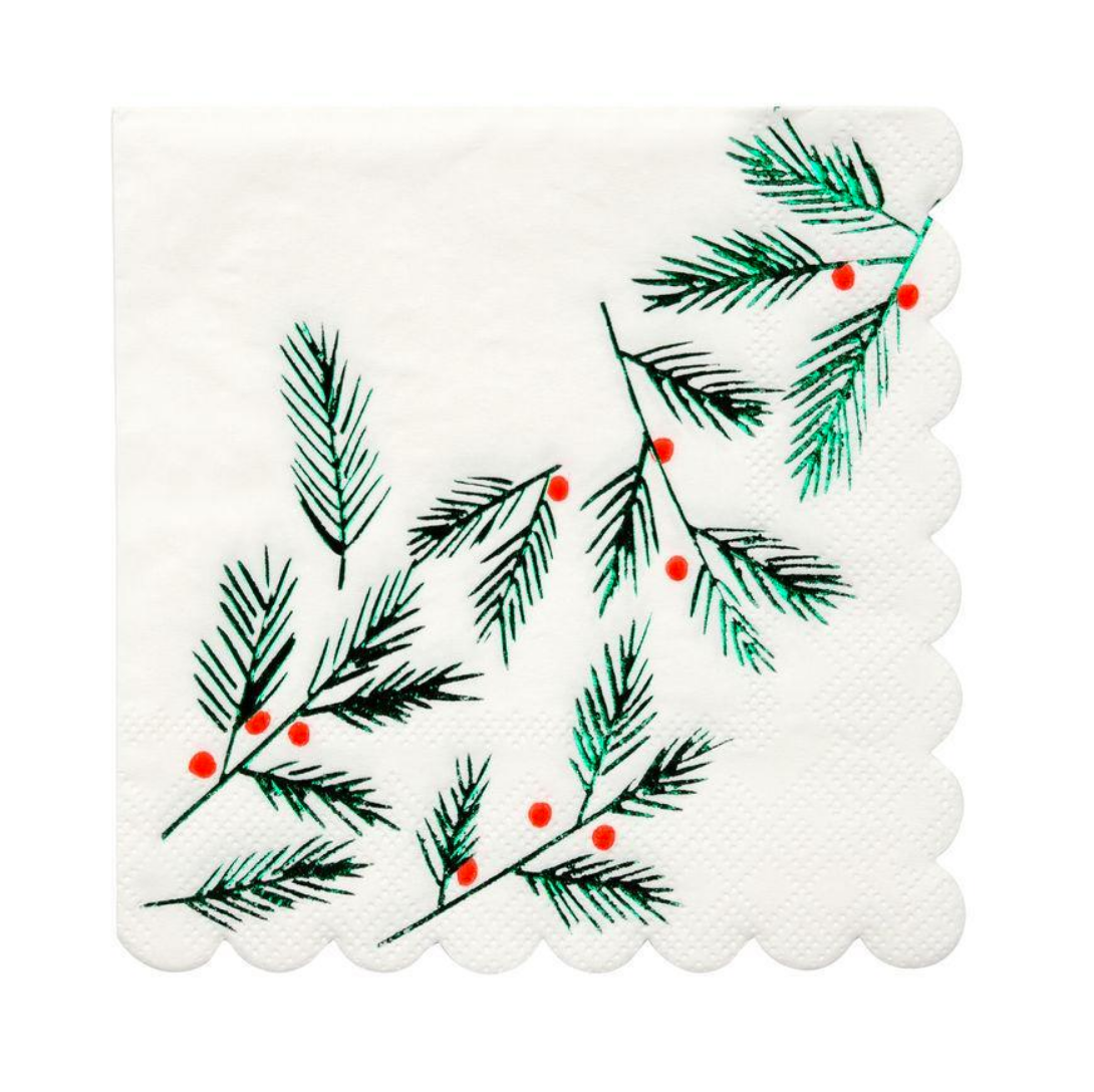 Festive Leaves Cocktail Napkins