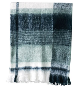 Blue Plaid Throw