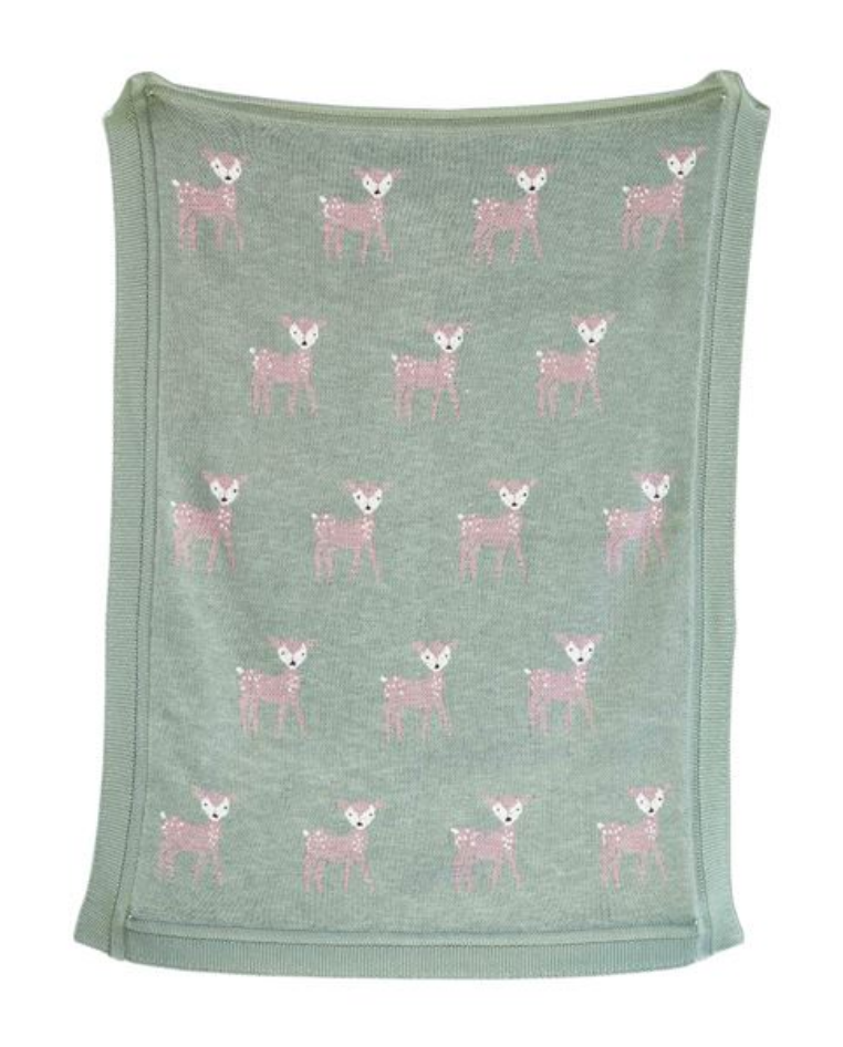 Knit Deer Blanket