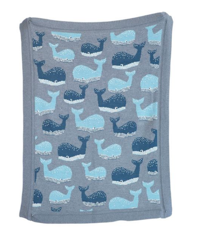Knit Whale Blanket