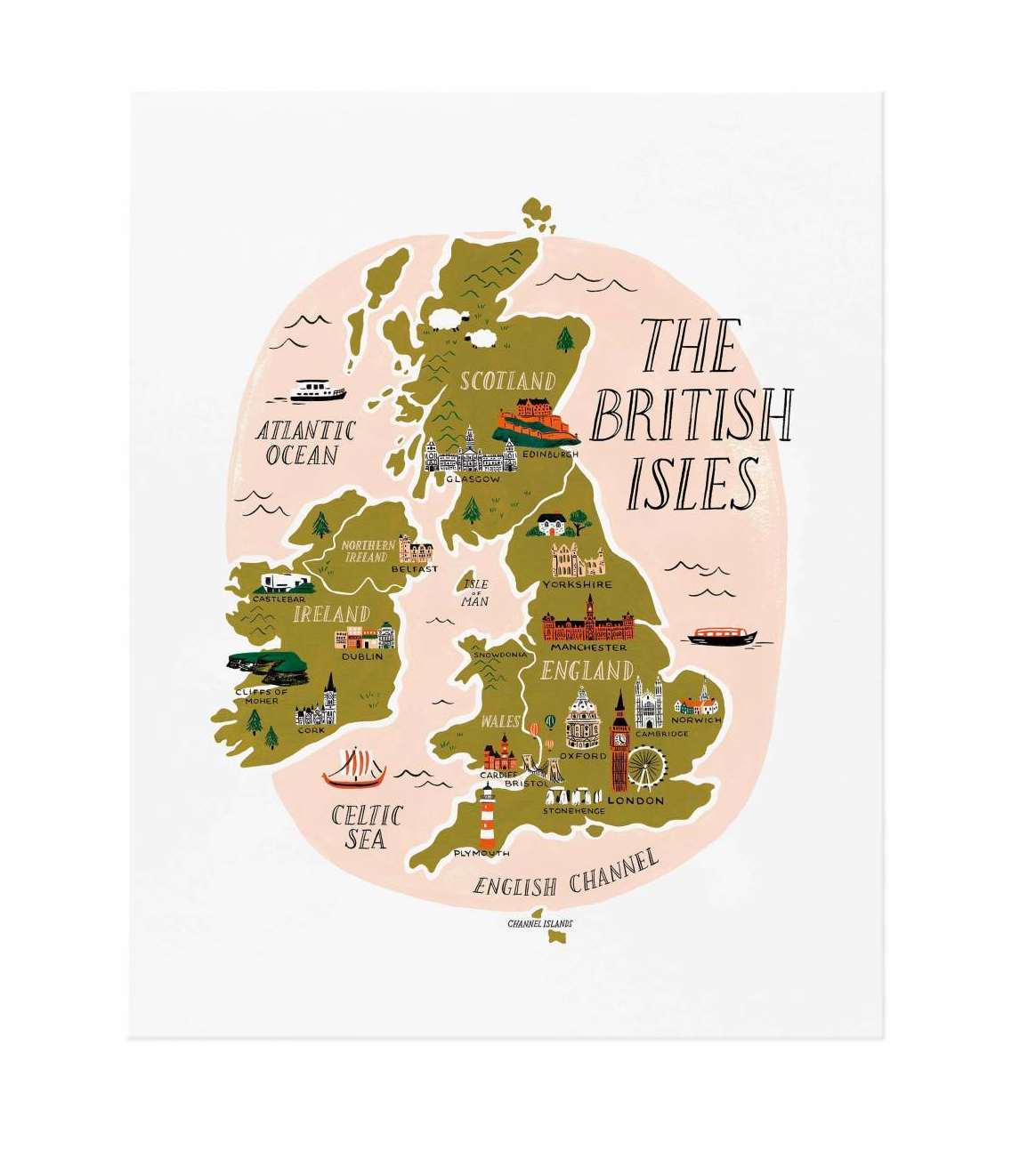 British Isles Art Print