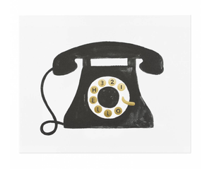 Telephone Art Print