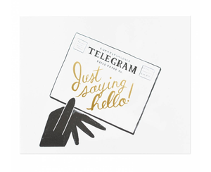 Telegram Art Print