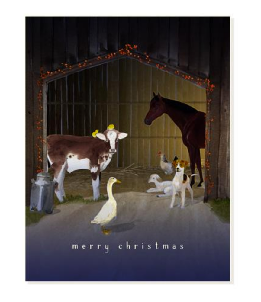 Anticipation at the Stables Christmas Cards