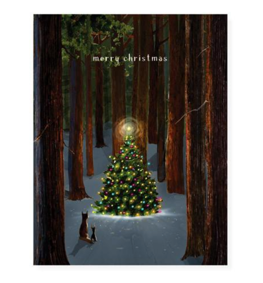 Tree Lighting Christmas Cards
