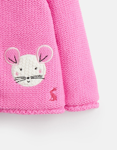 Pink Mouse Cardigan Sweater
