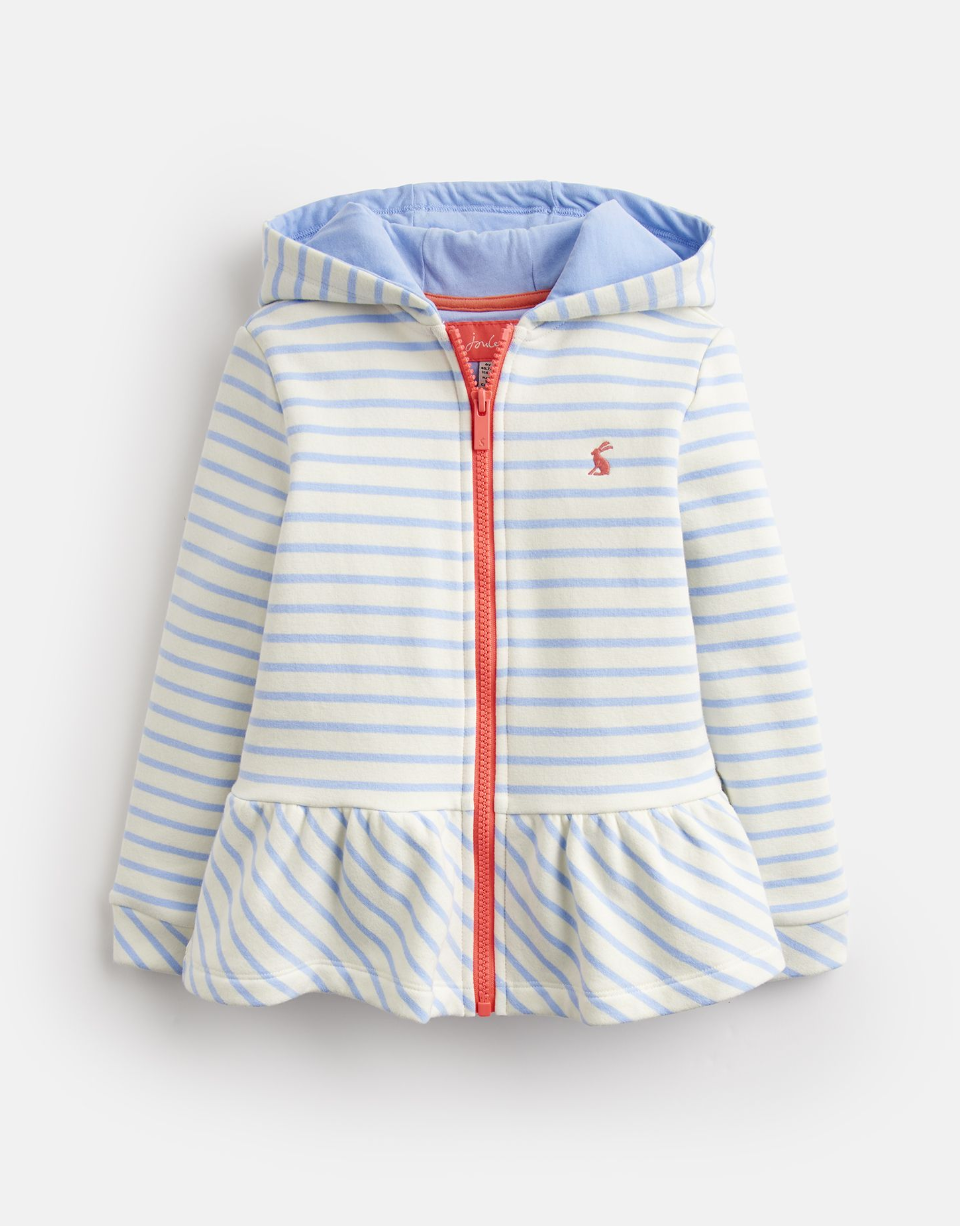 Brianna Striped Sweatshirt Jacket