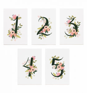 Floral Table Numbers [1-5]