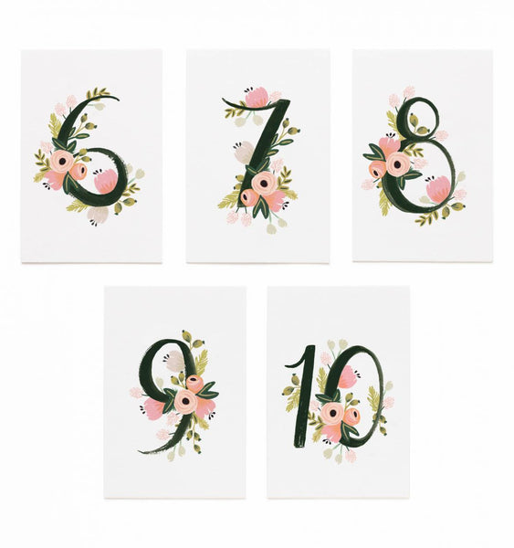 Floral Table Numbers [6-10]