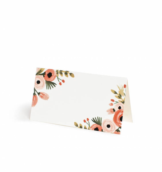 Floral Place Cards