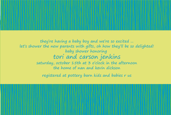 Stripes Invitations