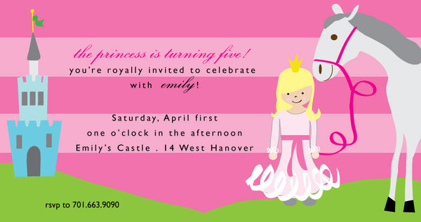 Princess Invite 6x11