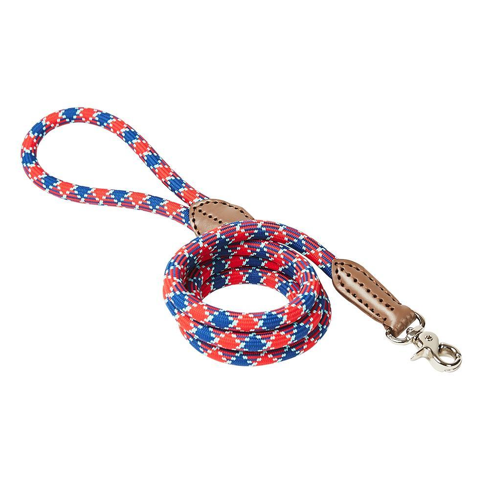 Harry Barker Plaid Rope Dog Leash