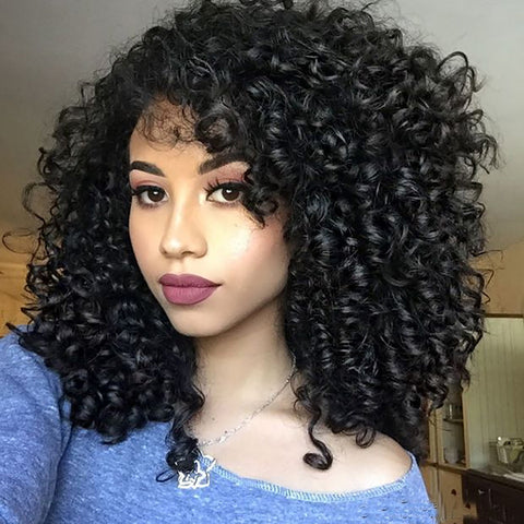 Kinky Curly Fashion Small Volume Wig