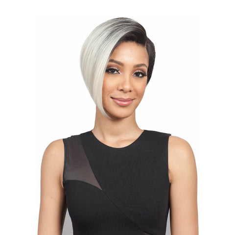 Women's fashion partial short straight hair wig