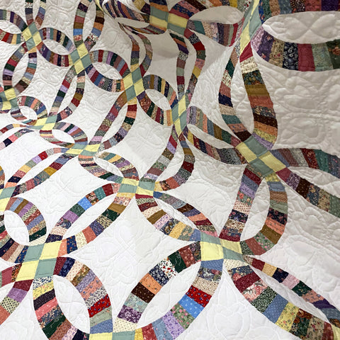 Cottage Path Double Wedding Quilt