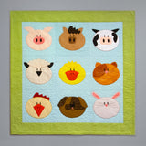 easy applique farm animal baby quilt pattern