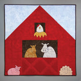 easy applique farm animals with barn baby quilt pattern