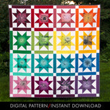 digital pattern for a colorful fat-quarter-friendly pattern