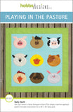 front cover of farm animal baby quilt pattern