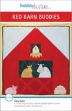 front cover of farm animals with barn baby quilt pattern