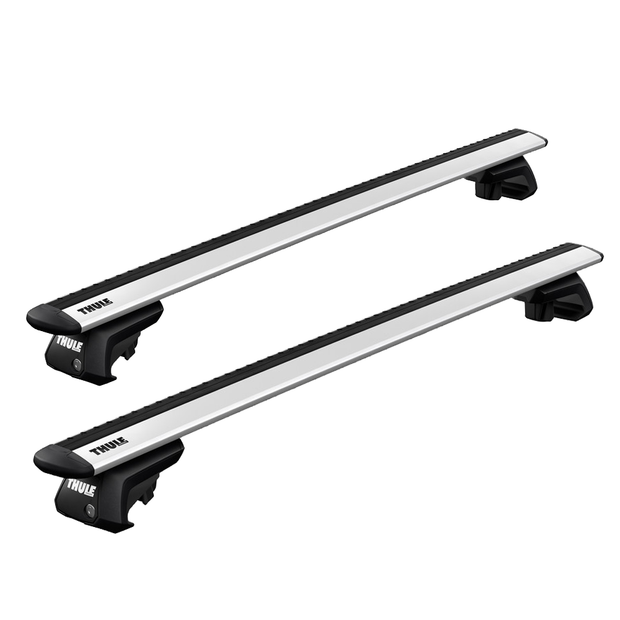 Option B - THULE Roof Rack For FIAT Panda 4X4 5-Door Hatchback 2004-2011 with Roof Railing (WINGBAR EVO)