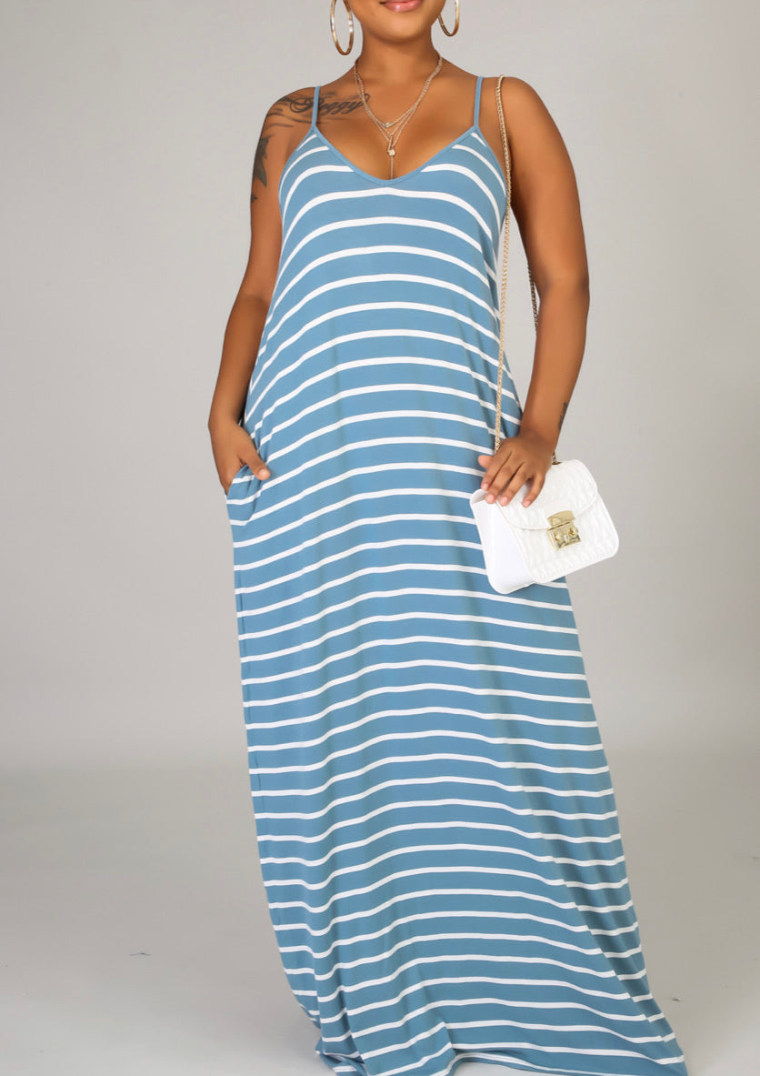 Striped tunic maxi