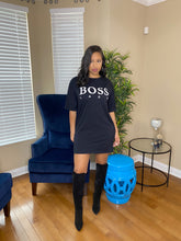 Load image into Gallery viewer, Boss lady Shirt Dress