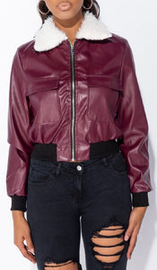 Sandy leather jacket