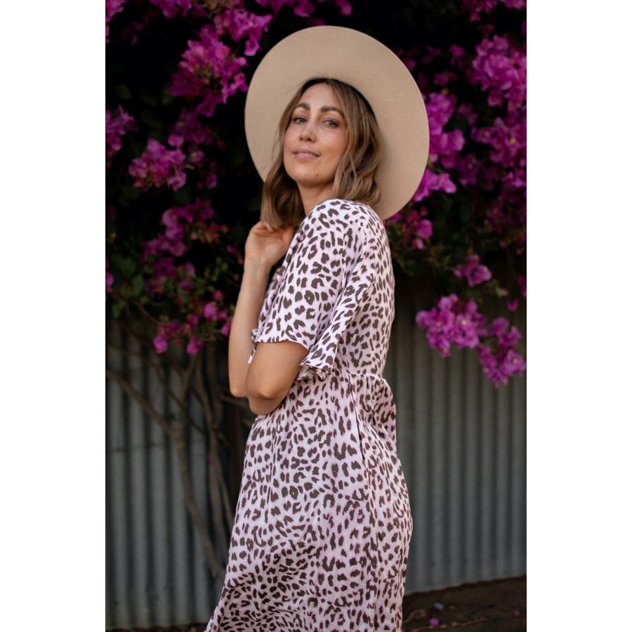 PINKY LEO ROBE DRESS (4790472179766)