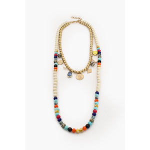 RIO MIXED CHARM LAYER NECKLACE