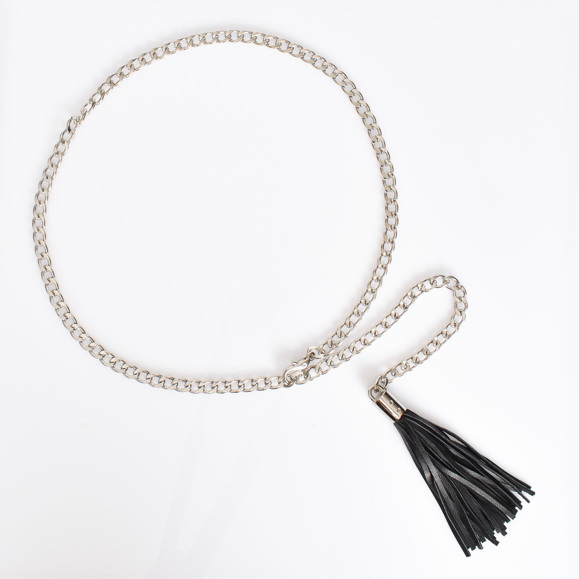 Chain and Leather Tassel belt