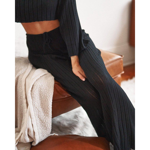BAHA RIBBED WIDE LEG PANT