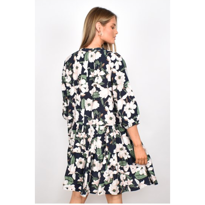 ANGIE FLORAL TIERED DRESS (4865297874998)