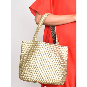 METALLIC PLAIT BAG (4836138057782)