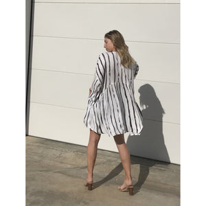 CASS STRIPED 561 DRESS