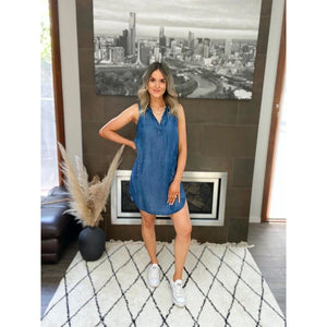 CATALINA SOFT DENIM SHIFT DRESS
