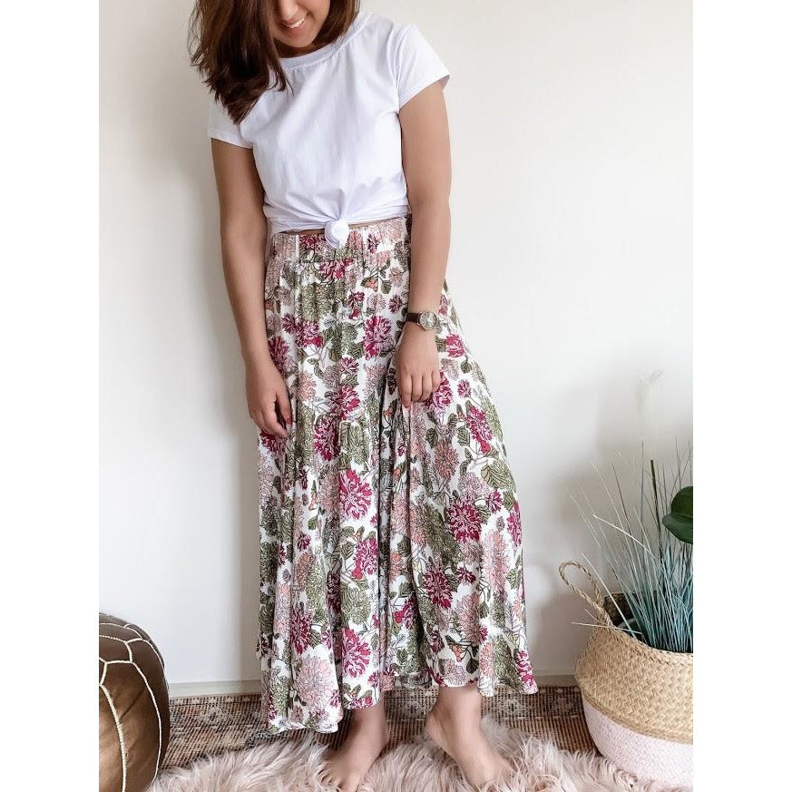MARGIE MAXI FLORAL SKIRT (4840419721270)