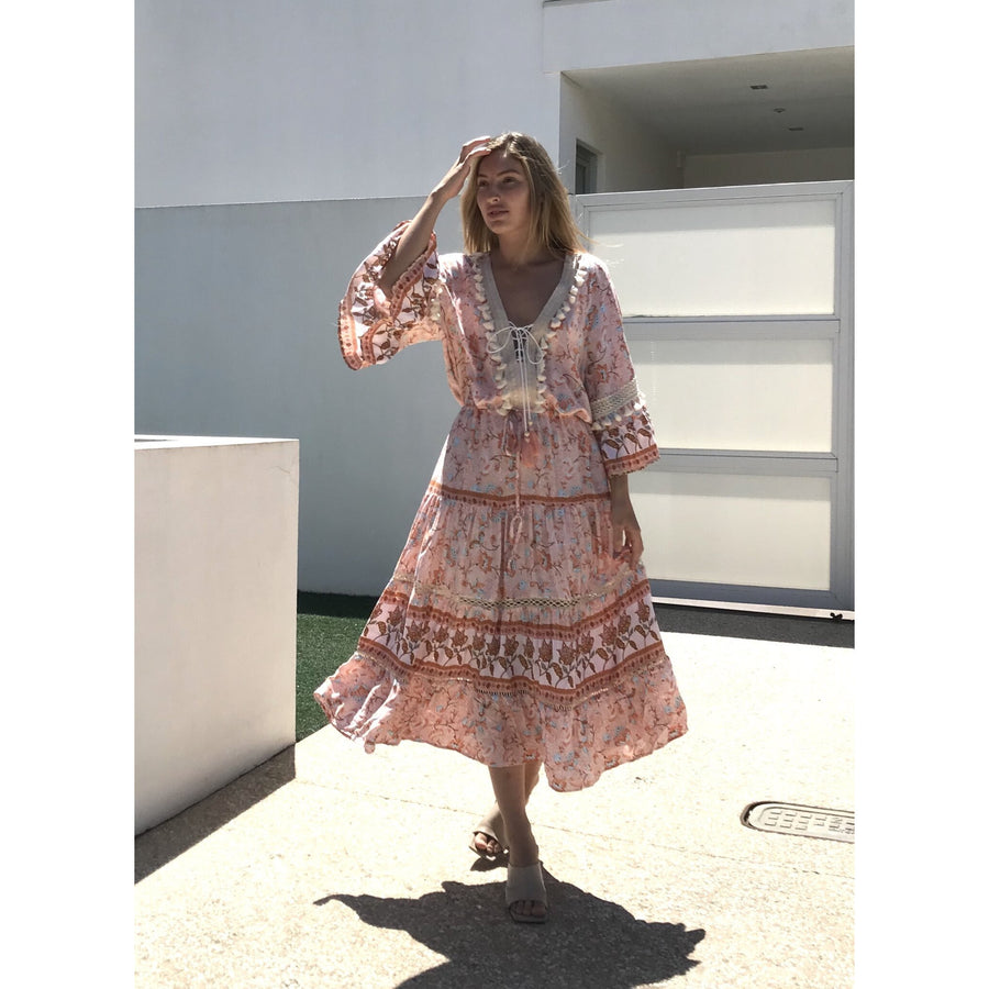 FIVE SIX FOUR BOHO MAXI DRESS