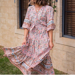 LANA BLUSH BOHO DRESS