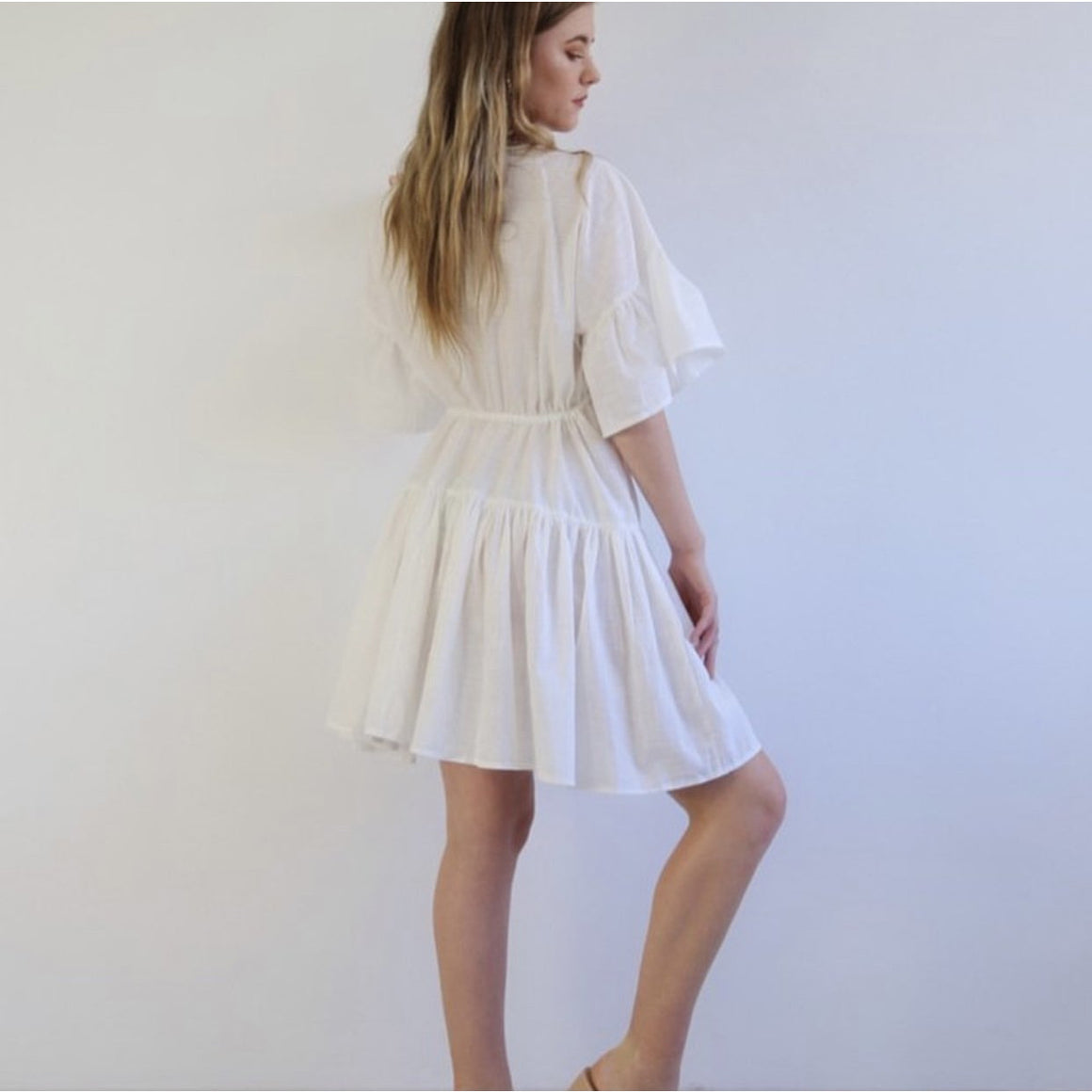 ANGEL TIERED SHIRT DRESS