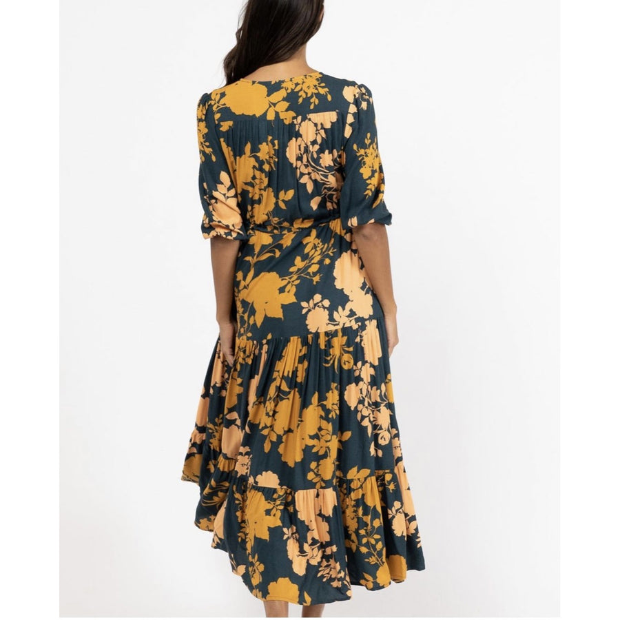 NOVA AUTUMN LEAF MAXI DRESS
