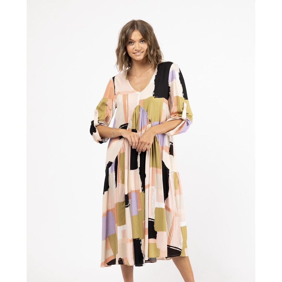 EVERETTE DRESS ABSTRACT