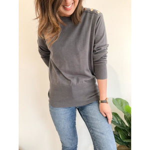 Kasey button knit