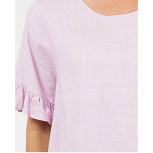 LINEN LOVE FRILL TOP (4672504692790)