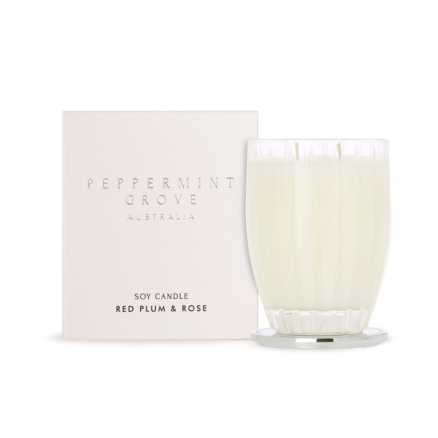 Red Plum & Rose - Peppermint Grove Candle