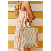 BAMBOO HANDLE WEAVE TOTE (4778812964918)