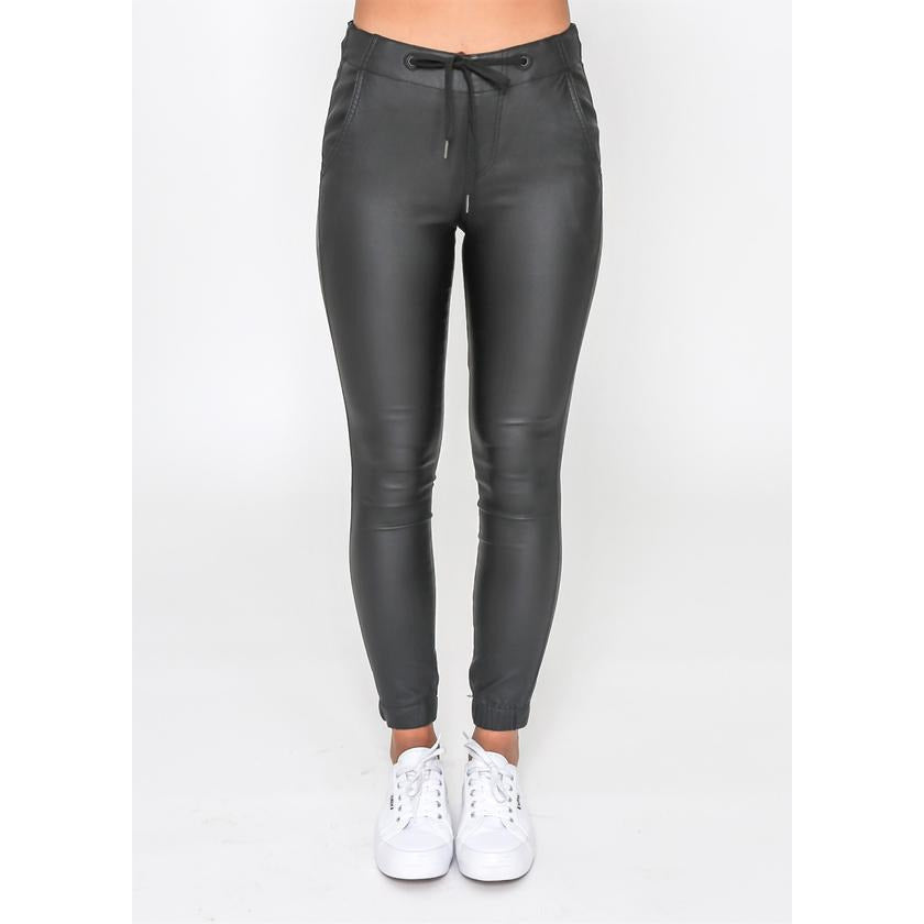 REVIVAL PLEATHER JOGGERS (4687276900406)