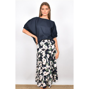 Mia 3 Tiered Shirred Waist Skirt (4865547632694)
